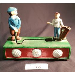 Repro. Mechanical Cast Bank, Golfer