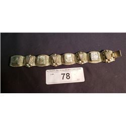 Mexican .925 Silver & Abalone Bracelet