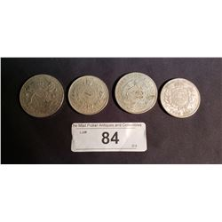 4 Silver Foreign Coins, 2 - 1886, 1892, 1855