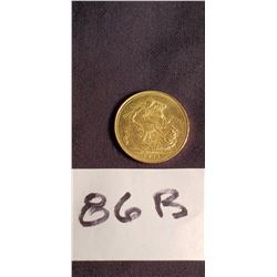 1911, 24ct British Gold Coin