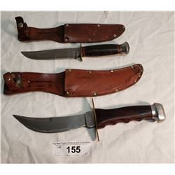 2 German Hunting Knives in Sheaths