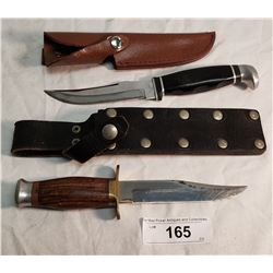 1 English & 1 USA Skinner Knife in Sheath