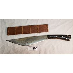 "14"" Carbon Steel Forged Killer Knife in Sheath"