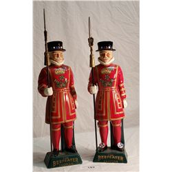 Pair of Figural Beefeater by Carlton Ware Liquor Bottles