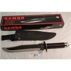 "Rambo First Blood Part 2 Knife 16"" in Box"