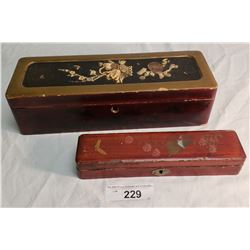 2 Lacquerware Asian Boxes