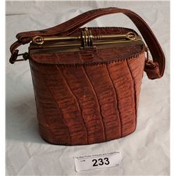 Vintage 2 Sided Alligator Skin Handbag