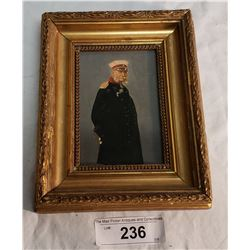 Vintage Painting of Early Sea Captain, Framed
