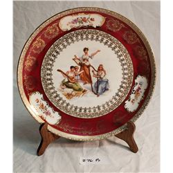 Antique Austrian Highly Decorated Plate