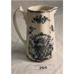 Vintage English Basket Pattern Water Pitcher