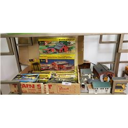 Vintage Toy Train Set w/Many Assessories