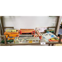 Large Lot of Vintage Railroad Toys, Many in Boxes