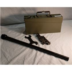 German WW2 MG 34 Barrel, Ammo Box, Bolt x2 & Tool