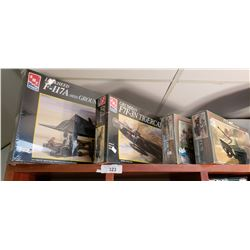 4 Military Models: 2 Aircraft, 1 Tank & 1 Missile Carrier