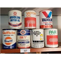 7 Various Vintage Oil Cans