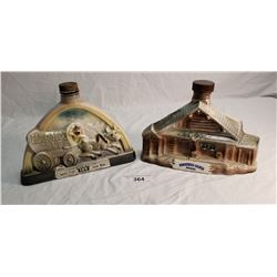 Jim Beam Ponderosa Decanter & Jim Beam Harolds Decanter