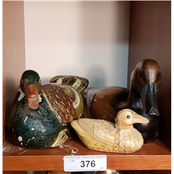 3 Contempory Duck Decoys