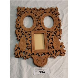 Fancy Carved & Pierced Triple Picture Frame