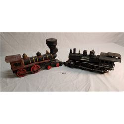 2 Jim Beam Locomotive Liquor Decanter