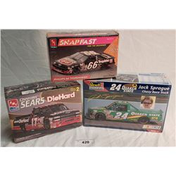 3 Racing Vehicle Model Kits