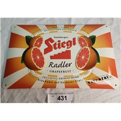 Tin Grapefruit Sign, Convex
