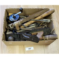 Box Lot of Vintage Hand Tool