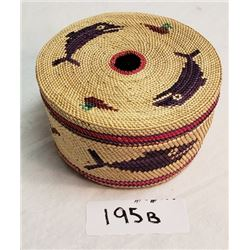 Nuu Chah Nulth Sewing Basket, Great Color