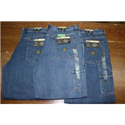 Carpenter Denim Jeans - Good Quality - Relaxed Fit ** Size 38 Waist/32 Leg - 3 prs (One Money)
