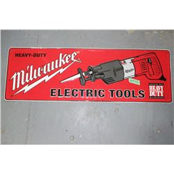 "Milwaukee Tools Metal Sign - 12"" x 40"""