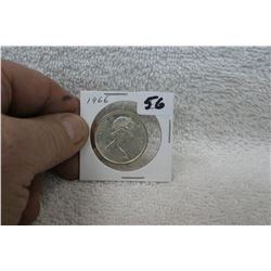 Canada Fifty Cent - 1966 - Silver - Uncirculated
