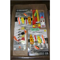 Flat of Len Thompson Spoon Bait Lures & Trout Spinners