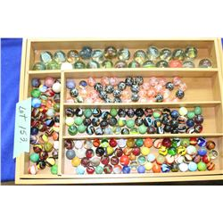 A Marble Collection in a Bamboo Box