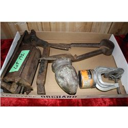 Antique Cast Iron Pump??; Sheep Shears & Vulcanizing Patch Kit