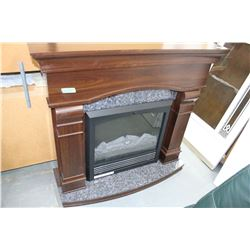 Mahogany Coloured Cabinet Fireplace - Nice Condition