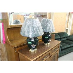 Green Coloured Lamps in Like New Condition