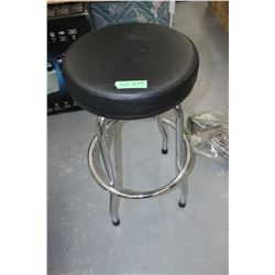 Stool with Chrome Legs, Upholstered Seat - 3' High