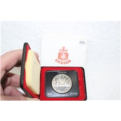 1972 Canada Silver Dollar - Uncirculated - In a Clam Shell