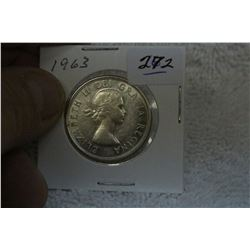 1963 Canada Silver Fifty Cent Coin