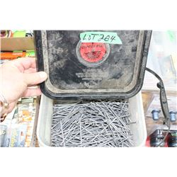 """Container of New 3 1/2"""" Nails"""
