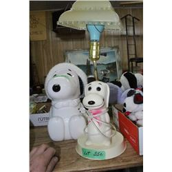 Snoopy Cookie Jar & Snoopy Lamp