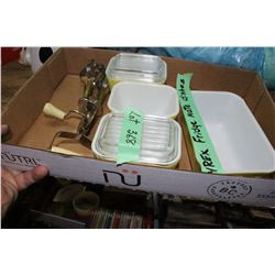 Flat of Pyrex Fridge Mate Dishes