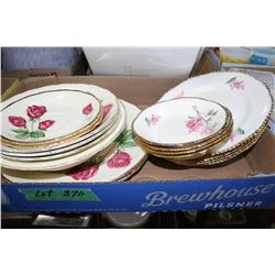 Flat w/Misc. China Dishes (England) & Flat w/Serving Plate & Dishes