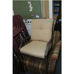 Metal Deck Chair with Cushions