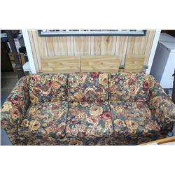 Couch with Floral Pattern Fabric