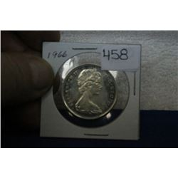 1966 Canada Fifty Cent Coin - Silver