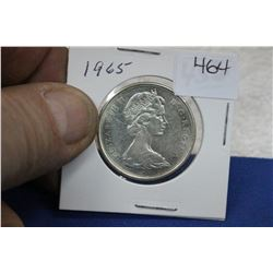 1965 Canada Fifty Cent Coin - Silver