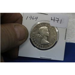 1964 Canada Fifty Cent Coin - Silver