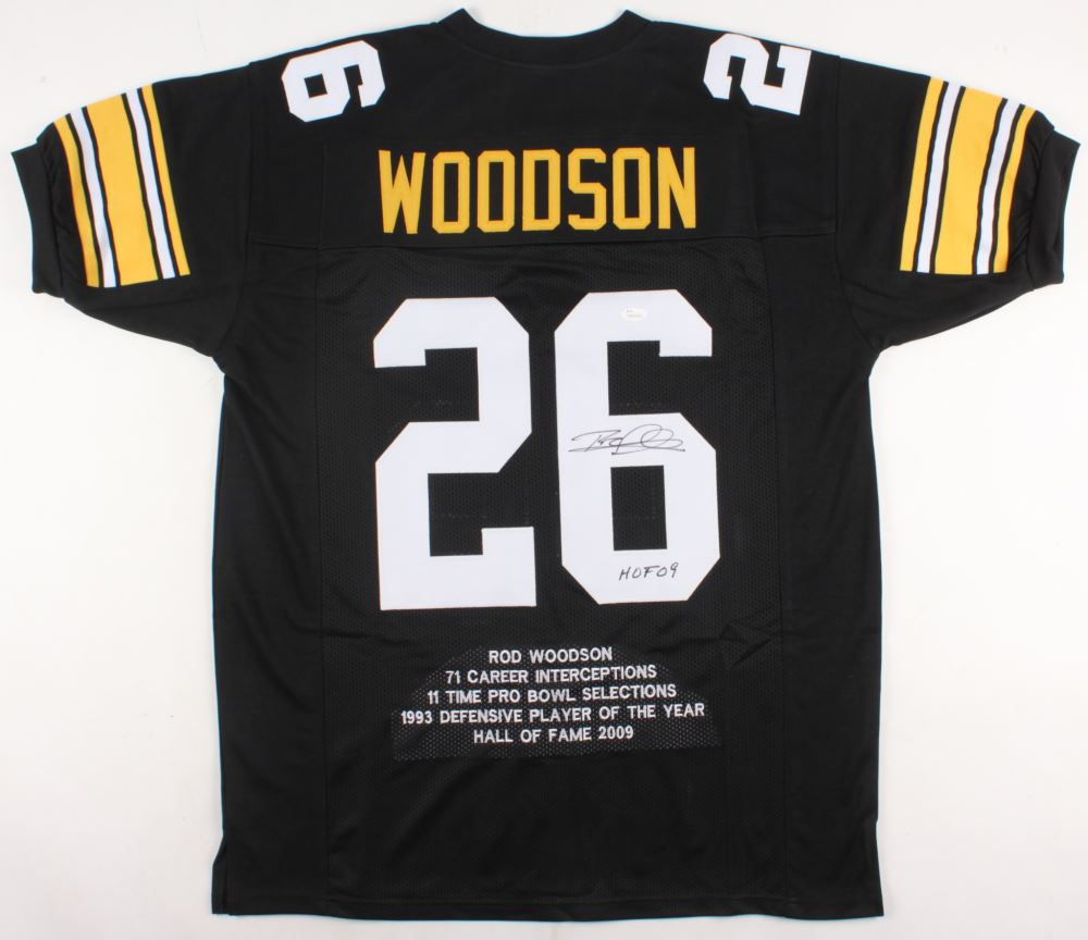 Image 1   Rod Woodson Signed Steelers Career Highlight Stat Jersey  Inscribed