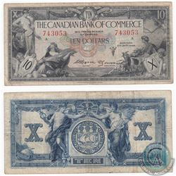 1935 $10 Canadian Bank of Commerce Note.