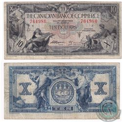 1935 $10 18-018a Canadian Imperial Bank of Commerce, Logan-Arscott 764986 Note (writing, minor tear)